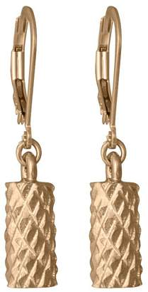 Edge Only - Diamond Cut Cylinder Drop Earrings In Gold