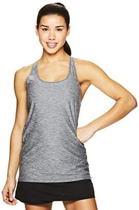 Head Women's Victorious Racerback Tank Top w/Back Ruching - Sleeveless Performance Activewear Shirt