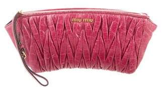 Miu Miu Leather Zip Pouch