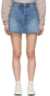 Levi's Levis Blue Deconstructed Miniskirt