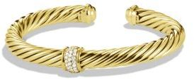 David Yurman Cable Classics Bracelet with Diamonds in Gold $4,800 thestylecure.com