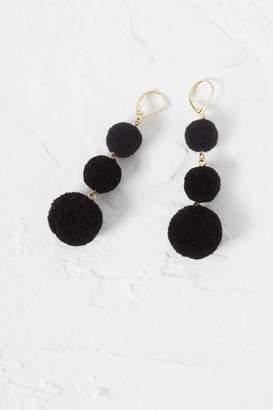 French Connection Beach Triple Pom Pom Earrings
