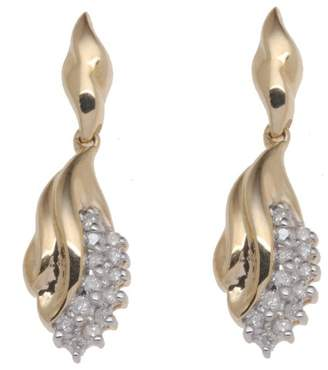 At Co Uk Adara 9 Ct Yellow Gold Diamond Drop Earrings