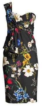 Parker Black Kysha Cold Shoulder Floral Dress