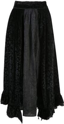 Renli Su floral velvet skirt
