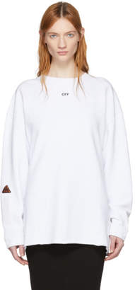 Off-White White Tape Over Crewneck Sweatshirt