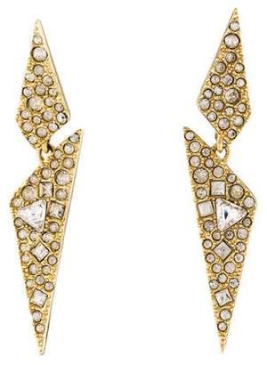 Alexis Bittar Crystal Encrusted Dangling Origami Post Earrings
