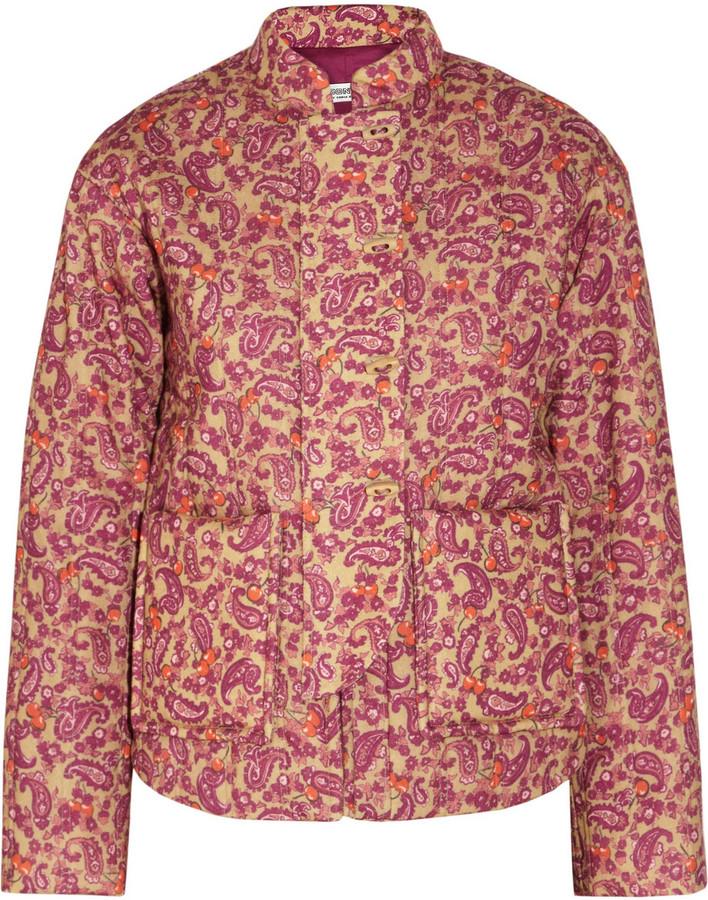 Sonia Rykiel Sonia by Paisley-print quilted wool jacket
