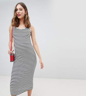 New Look Maternity Stripe Maxi Dress