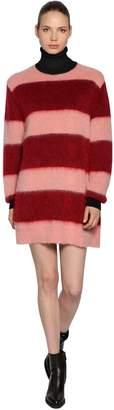 Sportmax Striped Mohair Knit Dress