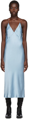 Haider Ackermann SSENSE Exclusive Blue Kuiper Camisole Dress