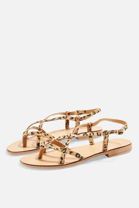 Topshop Womens Hayley Sandals - True Leopard