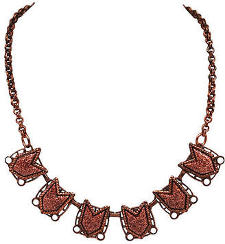 One Kings Lane Vintage 1960s Modernist Geometic Copper Necklace - Thanks for the Memories