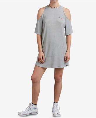 Volcom Juniors' Hi Tea Cold-Shoulder Dress