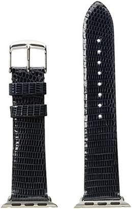 Michele MS38AB030400 38mm Apple Strap Leather Lizard Watch Strap