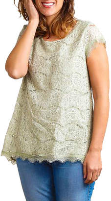 Asstd National Brand Plus Lined Crochet Tunic