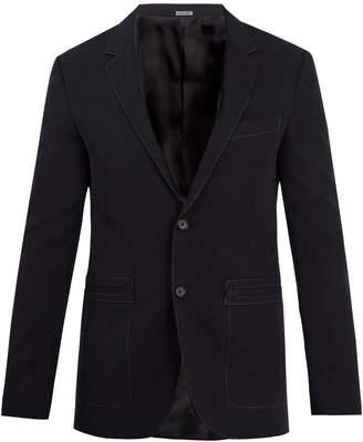 Lanvin Contrast-stitch wool blazer