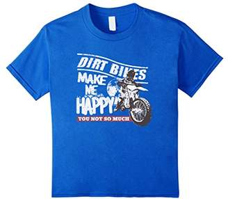 Grunge Dirt Bikes Make Me Happy You Not So Much T-Shirt