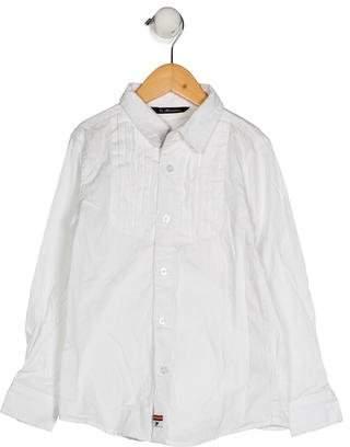 La Miniatura Boys' Pleated Button-Up Shirt