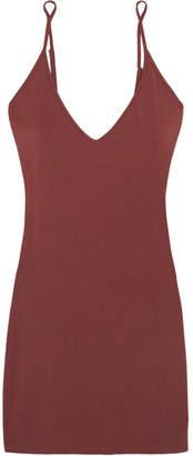 Cosabella Minimalist Stretch-jersey Slip - Burgundy