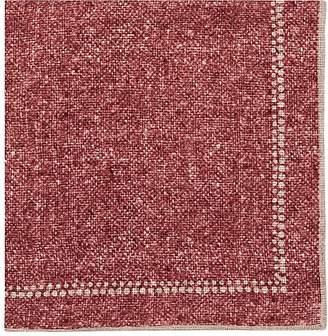 Paolo Albizzati Men's Dot-Border Linen-Cotton Gauze Pocket Square