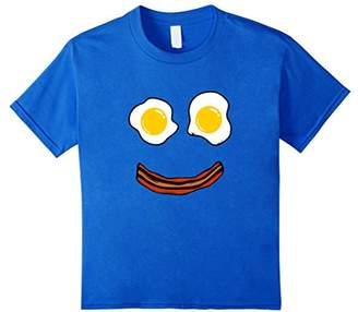 Bacon and Eggs Happy Smiley Face T-Shirt: Brunch Breakfast