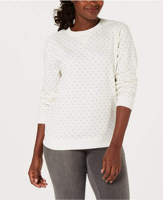 Karen Scott Dot-Print Sweatshirt, Created for Macy's