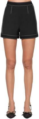 RED Valentino Wool & Viscose Gabardine Shorts
