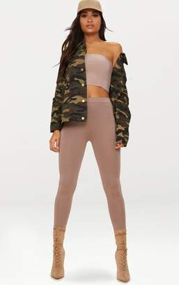 PrettyLittleThing Camouflage Oversized Denim Jacket