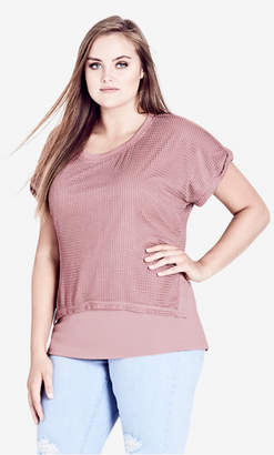 City Chic Pretty Overlay Top