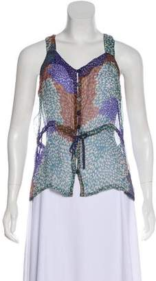 Rodebjer Floral Sleeveless Top