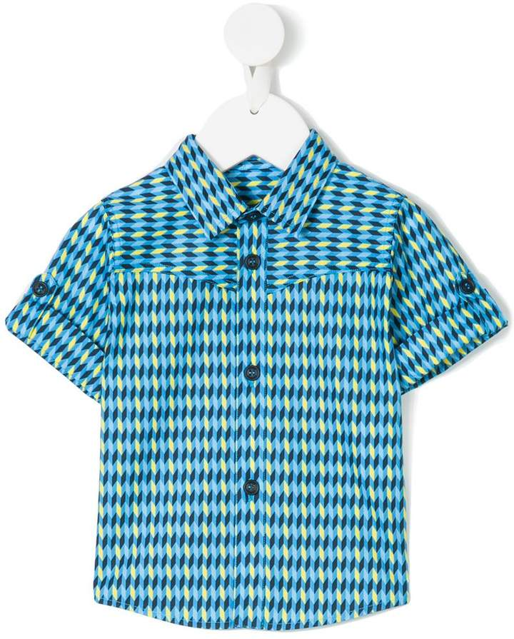 geometric printed shirt