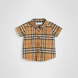 0faf651b059 Burberry Childrens Short-sleeve Vintage Check Cotton Shirt