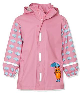 Playshoes Girl's Rain Jacket Raincoat Mouse and Elephant