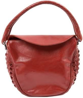Bottega Veneta Burgundy Leather Handbag