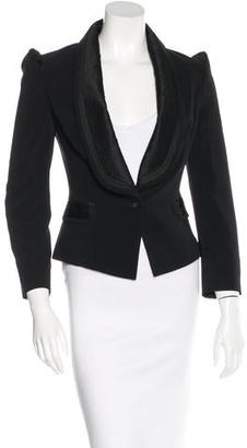 Alice by Temperley Pleat-Accented Fitted Blazer $125 thestylecure.com