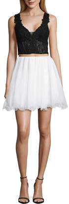 City Triangle Prom Sleeveless Party Dress-Juniors