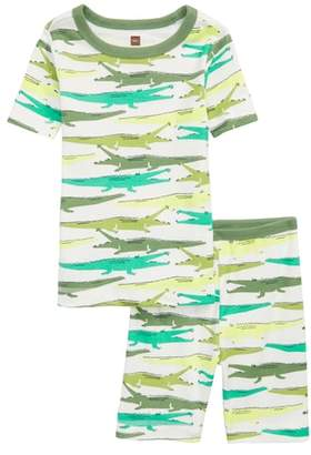 Tea Collection Print Fitted Two-Piece Pajamas