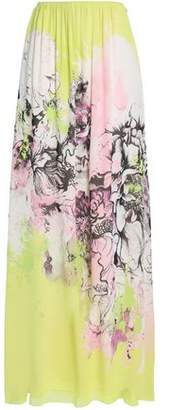 Roberto Cavalli Floral-Print Silk-Georgette Maxi Skirt