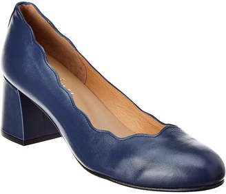 French Sole Tanzanite Leather Pump