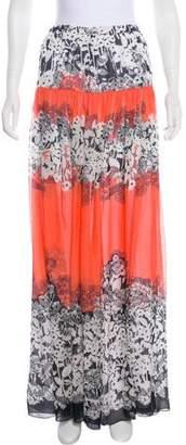 Blumarine Silk Maxi Skirt