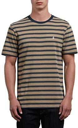Volcom Men's Briggs Crew Short Sleeve Striped Knit Shirt
