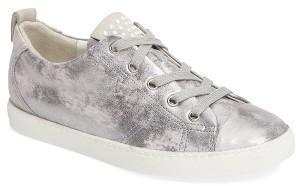 Women's Paul Green Pearl Metallic Sneaker $339 thestylecure.com
