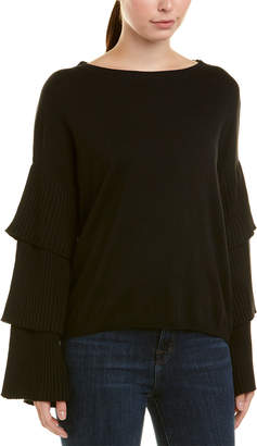 Central Park West Quincy Tiered Sleeve Sweater