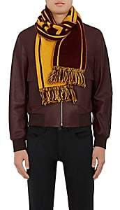 "The Elder Statesman X NBA X NBA MEN'S ""CAVALIERS"" CASHMERE SCARF-WINE"