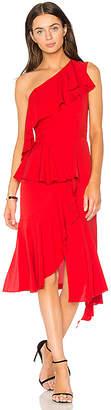 GOEN.J One Shoulder Asymmetrical Dress