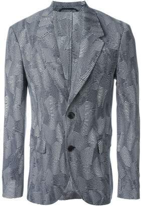 Neil Barrett zig-zag jacquard blazer