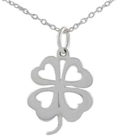 Silver 4 Leaf Clover Necklace