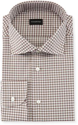 Ermenegildo Zegna Gingham Cotton Dress Shirt