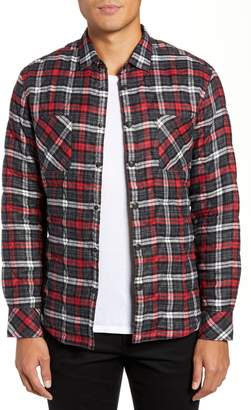 Good Man Brand Slim Fit Linen Plaid Shirt Jacket
